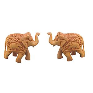Wooden Elephant Pair Chwe2710