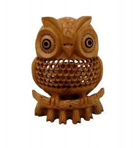 Chitrahandicraft Wooden Owl