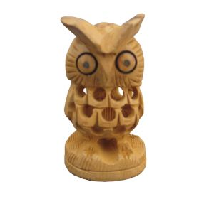 Wooden Owl By Chitrahandicraft