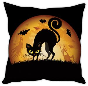 Stybuzz Black Cat Cushion Cover