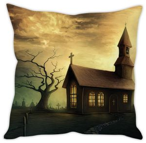 Stybuzz Haunted House Cushion Cover