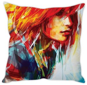 Stybuzz Painted Girl Cushion Cover