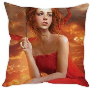 Stybuzz Girl With Umbrella Cushion Cover