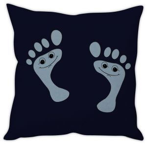 Stybuzz Happy Footprints Cushion Cover