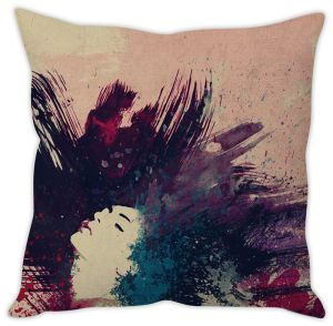 Stybuzz Girl Artistic Cushion Cover
