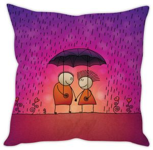 Stybuzz Love In Rain Cushion Cover