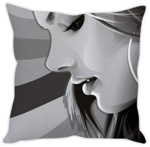 Stybuzz Girl In Grey Cushion Cover