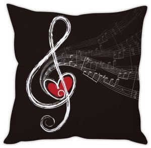 Stybuzz Love Musical Note Cushion Cover