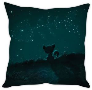 Stybuzz Cat Watching The Sky Cushion Cover