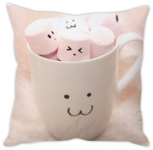 Stybuzz Cute Marshmallows In Cup Cushion Cover
