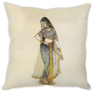 Stybuzz Traditional Indian Woman Cushion Cover