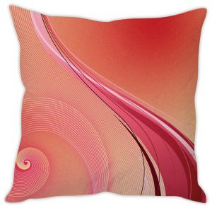 Stybuzz Pink Abstract Cushion Cover
