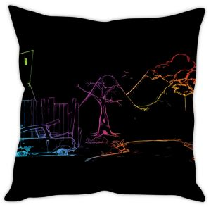 Stybuzz Rainbow Art Cushion Cover