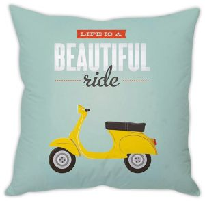 Stybuzz Life Is A Beautiful Ride Cushion Cover