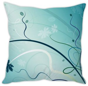 Stybuzz Blue Abstract Cushion Cover