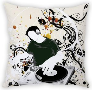 Stybuzz Dj Abstract Art Cushion Cover