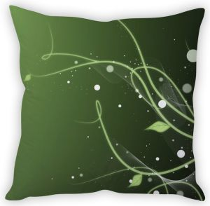 Stybuzz Green Leaf Abstract Cushion Cover