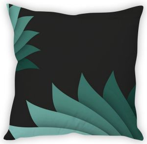 Stybuzz Blue Lotus Pattern Cushion Cover