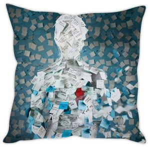 Stybuzz Sticky Notes Man Cushion Cover