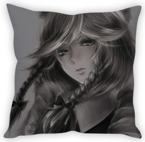 Stybuzz Cute Girl Sketch Cushion Cover