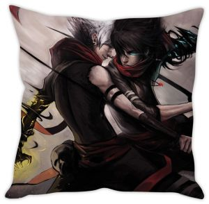 Stybuzz Black Sword Warriors Cushion Cover