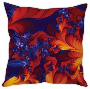Stybuzz Fiery Red Abstract Cushion Cover