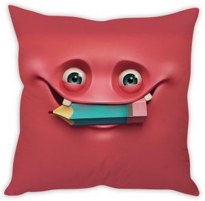 Stybuzz Pink Monster Cushion Cover
