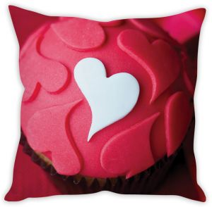 Stybuzz Love Cup Cake Cushion Cover