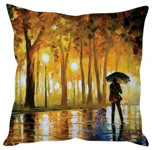 Stybuzz Walk In Rain Art Cushion Cover