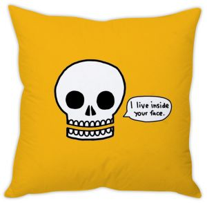 Stybuzz Skull Funny Cushion Cover
