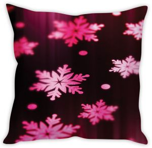 Stybuzz Pink Snow Cushion Cover