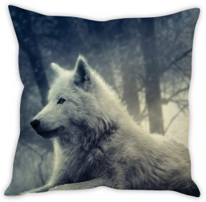 Stybuzz The White Wolf Cushion Cover