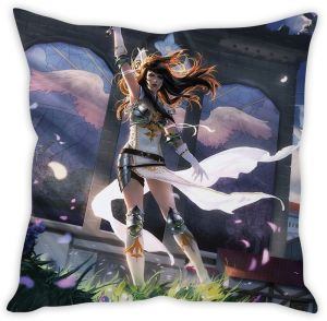 Stybuzz Anime Girl Warrior Cushion Cover