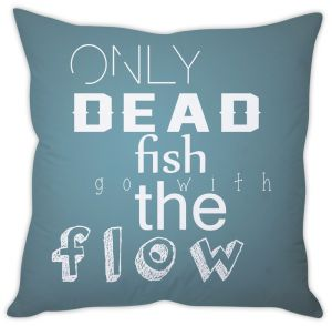 Stybuzz Dead Fish Go With Flow Cushion Cover