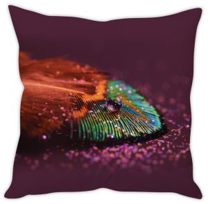 Stybuzz Peacock Feather Cushion Cover