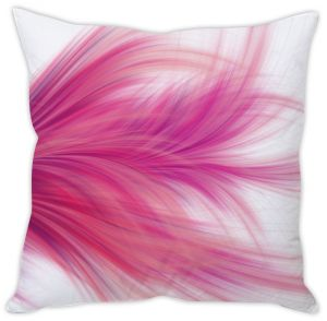 Stybuzz Pink Feathers Cushion Cover
