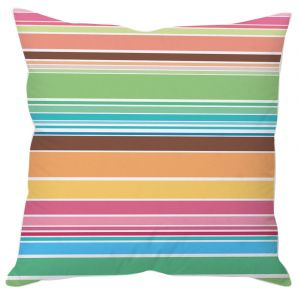 Colorful Stripes Cushion Cover