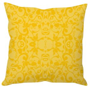 Golden Yellow Vine Art Cushion Cover