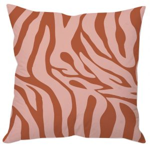 Rust Color Animal Print Cushion Cover