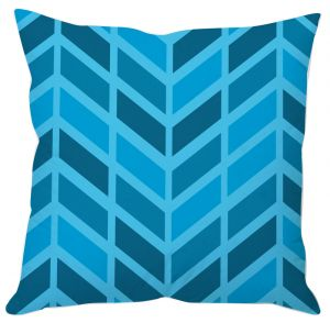 Shades Of Blue Block Print Cushion Cover
