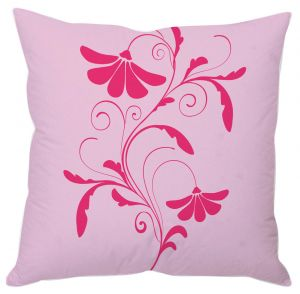 Pink And Mauve Floral Abstract Cushion Cover