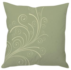 Grey Floral Abstract Art Cushion Cover