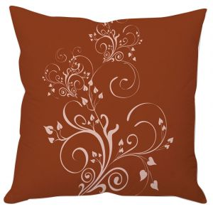 Brown Vine Art Cushion Cover