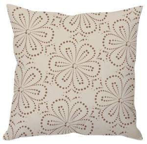 Cream Floral Art Cushion Cover