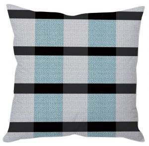 Large Check Pattern Cushion Cover