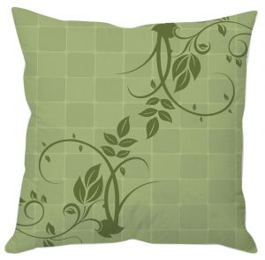 Green Blocks And Vine Cushion Cover