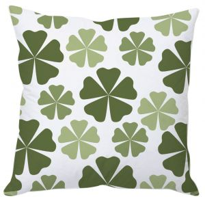 Forest Green Abstract Cushion Cover