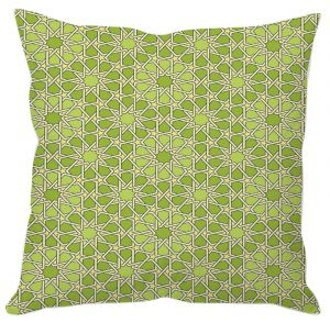 Green Stars Abstract Cushion Cover