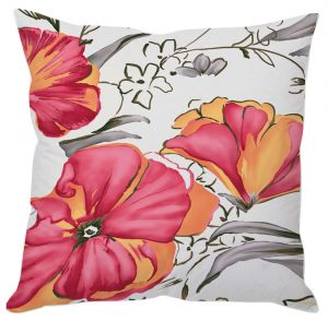 Painted Flowers Cushion Cover