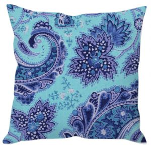 Painted Paisley Pattern Cushion Cover